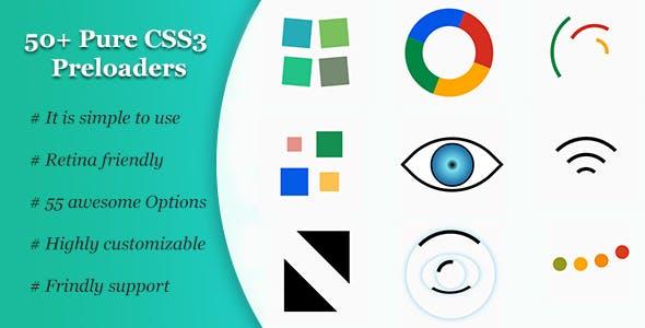 بیش از 50 Preloaders نوشته شده با css رایگان 50+ Pure CSS3 Preloaders