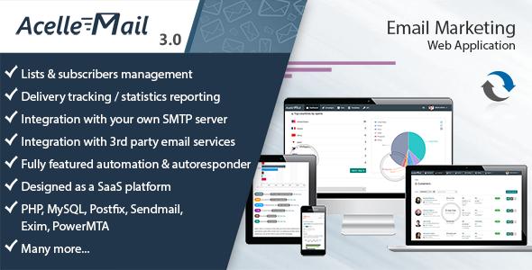 اسکریپت رایگان ایمیل مارکتینگ حرفه ای Acelle v3.0.13