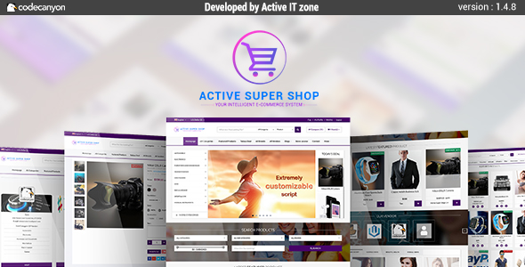 راه اندازی فروشگاه اینترنتی با Active Super Shop Multi-vendor CMS v1.4.8