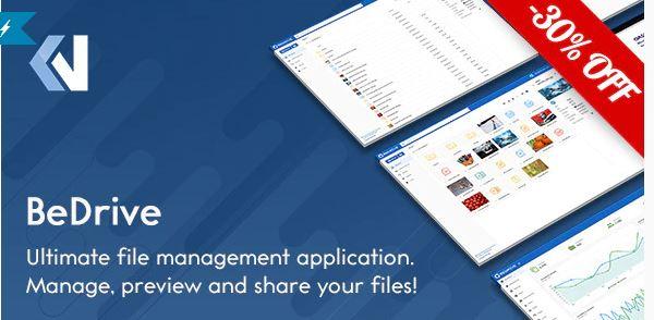 دانلود اسکریپت اشتراک گذاری فایل BeDrive v2.2.0