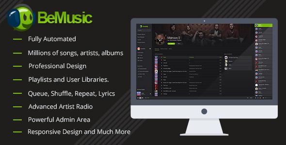 اسکریپت ایجاد سایت موزیک BeMusic v2.0.7