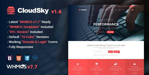 دانلود قالب به صورت html + نسخه CloudSky