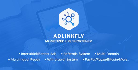 اسکریپت کوتاه کننده لینک AdLinkFly v6.3.0