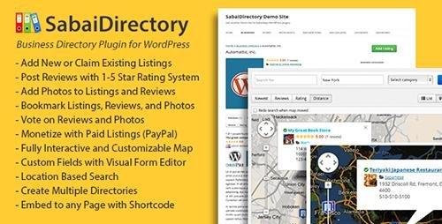 دانلود افزونه دایرکتوری Sabai Directory v1.3.41