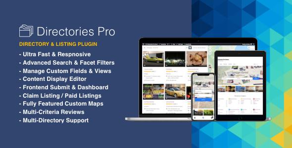 دایرکتوری مانند مشاغل ، املاک با افزونه Directories Pro plugin for WordPress v1.2.29