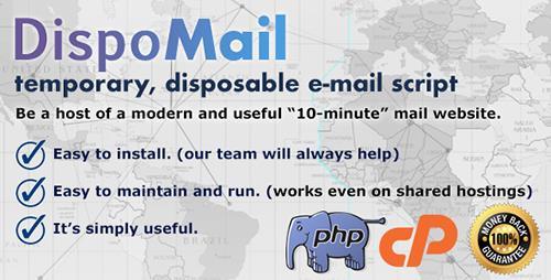 اسکریپت راه اندازی سایت ایمیل موقت DispoMail v1.0
