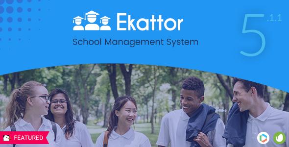 اسکت مدیریت کردن مدارس Ekattor v5.1.1
