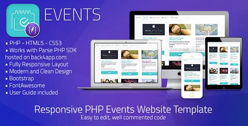 دانلود اسکریپت اشتراک گذاری رویداد  Events v1.0