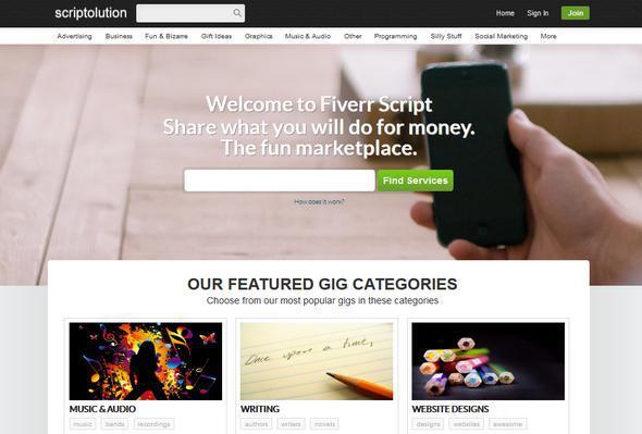 اسکریپت راه اندازی کسب و کار و همکاری در فروش FiverrScript v7.5.1