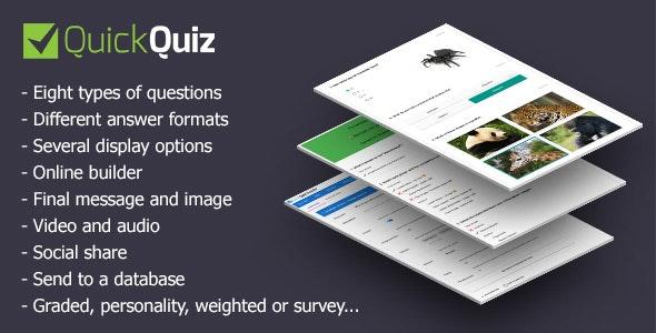 دانلود اسکریپت ایجاد نظر سنجی QuickQuiz v1.3.4
