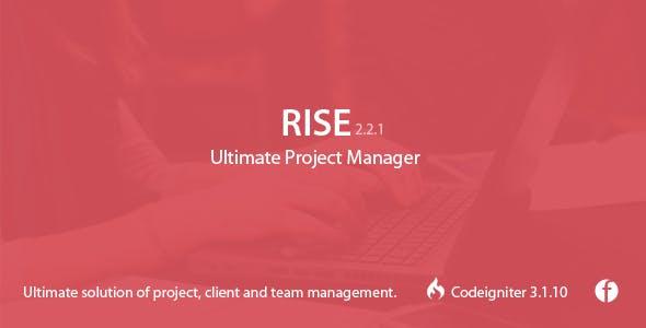 دانلود اسکریپت مدیریت پروژه RISE v2.2.1 - Ultimate Project Manager