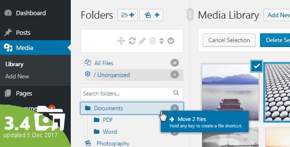 مدیریت کتابخانه وردپرس با WordPress Real Media Library 4.0.1