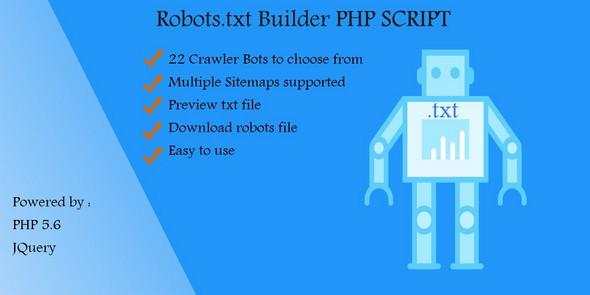دانلود اسکریپت ایجاد فایل robots.txt به نام Robots.txt Builder v1.0