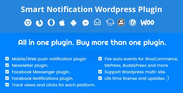 افزونه نوتیفیکیشن وردپرس Smart Notification Wordpress Plugin v8.3.3