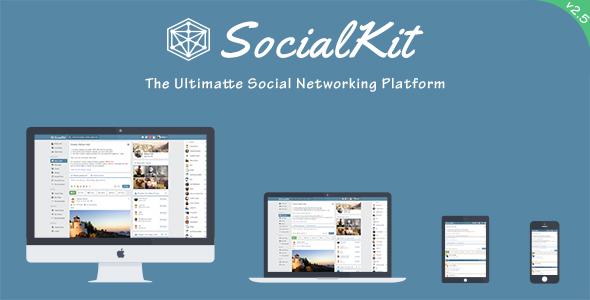 دانلود اسکریپت شبکه اجتماعی SocialKit v2.5.0