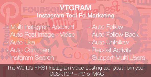 اسکریپت لایک خودکار اینستاگرام, پست خودکار و... VTGram v2.0