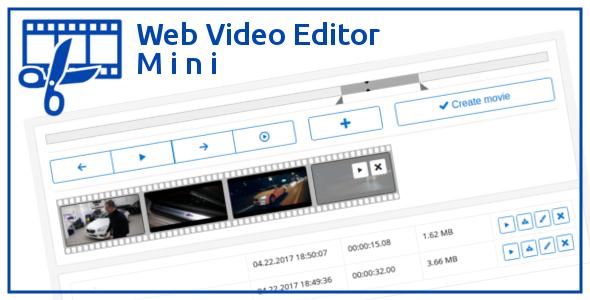 ویرایش فیلم با اسکریپت Web Video Editor Mini v1.2.1