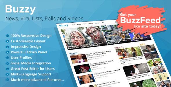 اسکریپت راه اندازی مجله خبری Buzzy v3.0.3