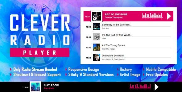 افزونه رادیو پلیر برای وردپرس CLEVER v1.3 - HTML5 Radio Player With History