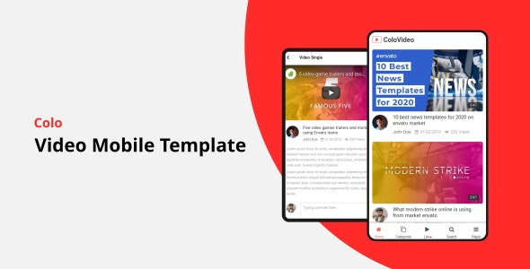 Colo - Video Mobile Template قالب موبایلی پخش ویدئو