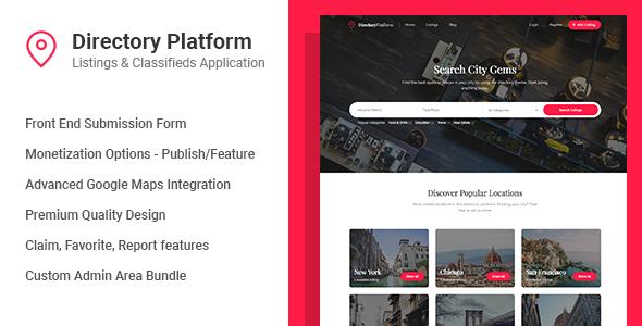 دانلود اسکریپت دایرکتوری  Directory Platform v1.0.8