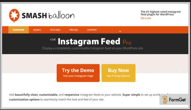 افزونه نمایش مطالب اینستاگرام در وردپرس Instagram Feed Pro v2.11