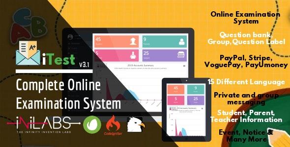 دانلود اسکریپت برگزاری آزمون iTest v3.1 - Complete Online Examination System