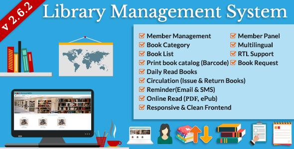 اسکریپت مدیریت کتابخانه Library Management System v2.6.2