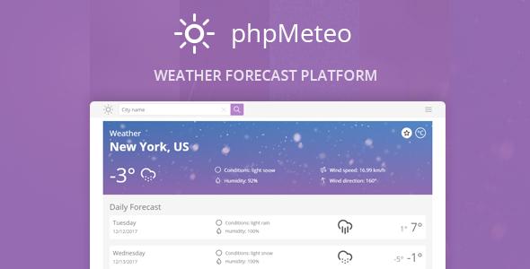 اسکریپت پیش بینی آب و هوا phpMeteo v2.0