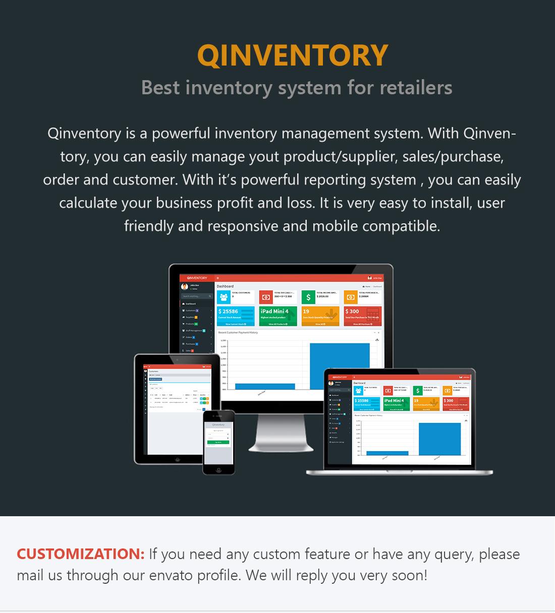 اسکریپت  مدیریت مشتری محصولات ، مدیریت کارکنان Qinventory CRM v1.2