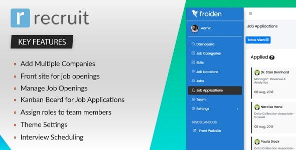 اسکریپت مدیریت کاربران شرکت Recruit v2.2.0 - Recruitment Manager