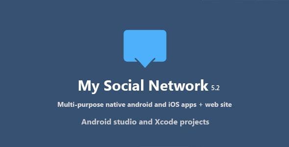 راه اندازی شبکه اجتماعی موبایلی با My Social Network v5.2 (App and Website) - nulled