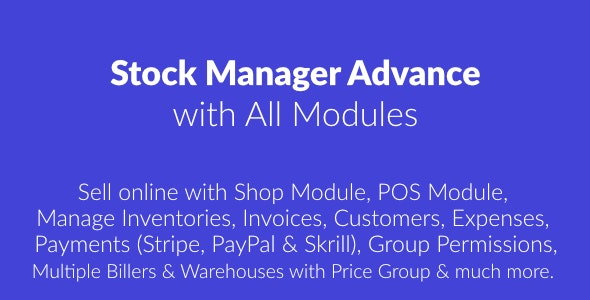 اسکریپت مدیریت سهام Stock Manager Advance with All Modules v3.4.25