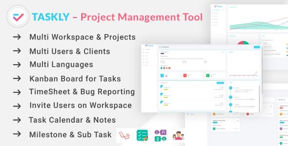 اسکریپت مدیریت پروژه TASKLY - Project Management Tool