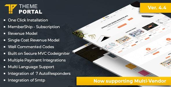 اسکریپت مارکت و فروشگاه قالب و اسکریپت Theme Portal Marketplace v4.4