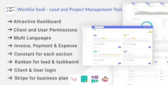دانلود اسکریپت WorkGo SaaS – Lead and Project Management Tool