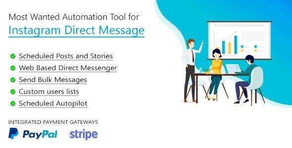 دانلود اسکریپت ارسال پیام به دایرکت اینستاگرام DM Pilot v3.0.7